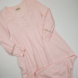 Vintage 60's Vanity Fair Pink Old Fashioned Gown M